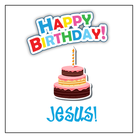 """Happy Birthday Jesus"" Christmas Temporary Tattoos (Set of 20)"