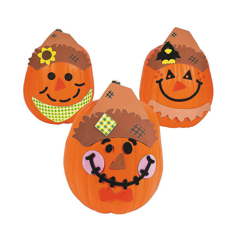 Scarecrow Pumpkin Decorating Craft Kit (Makes 12)