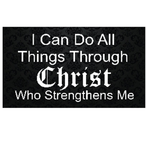 I Can Do All Things Through Christ Black Rectangle Magnet