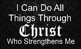 Bulk Wholesale I Can Do All Things Through Christ Black Rectangle Magnets (250 Pack)