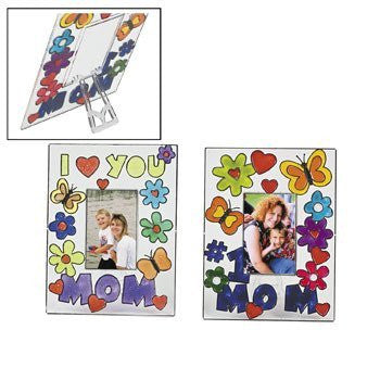 Plastic Mom Sun Catcher Photo Frames - Crafts for Kids & Photo Crafts