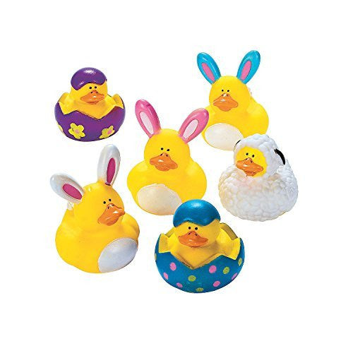 EASTER RUBBER DUCKIES (1 DOZEN) - BULK by FX