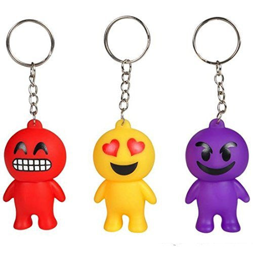 "2.5"" EMOTICON GUY KEYCHAINS (PACK OF 12)"
