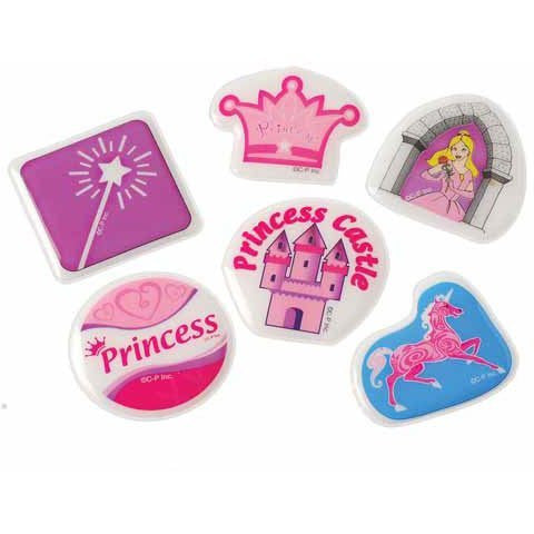 Lot Of 72 Assorted Princess Theme Puffy Stickers