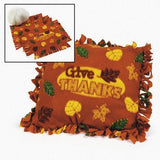 Fleece Give Thanks Tied Pillow Craft Kit - Crafts for Kids & Novelty Crafts
