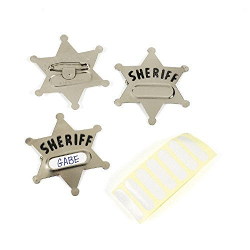 Toy Sheriff Badge - Two Badges Per Pack