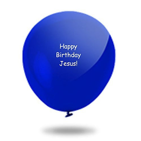 "Dozen ""Happy Birthday Jesus"" Balloons"