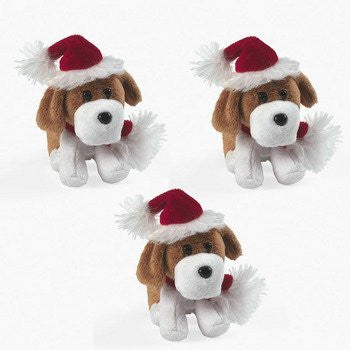 Plush Christmas Bean Bag Dogs - Stocking Stuffers & Toys & Novelty Toys
