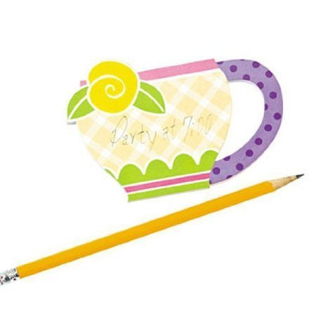 Carry Around Tea Cup Notepads (1 dz)