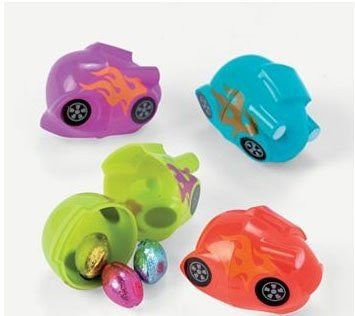 Oriental Trading Easter 37/1009 Dozen Pack Race Car Easter Eggs