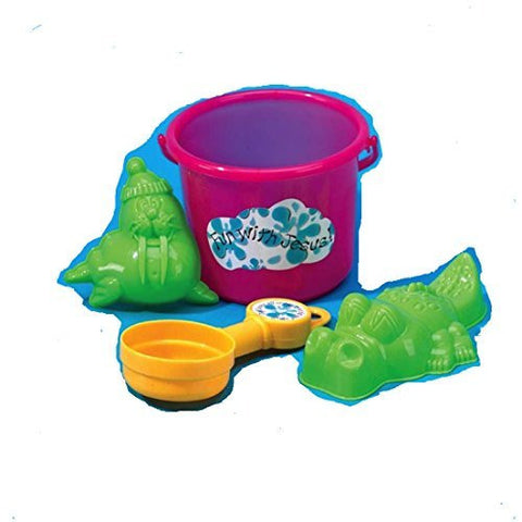 Beach Bucket Shovel And Molds (Set of 3)