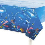 Dolphin Table Cover Birthday Party Plastic Tablecover by Fun Express