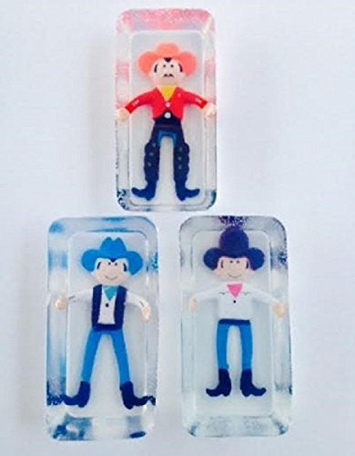 Toy Embeded Glycerin Cowboy Soap For Boys 3 Pack