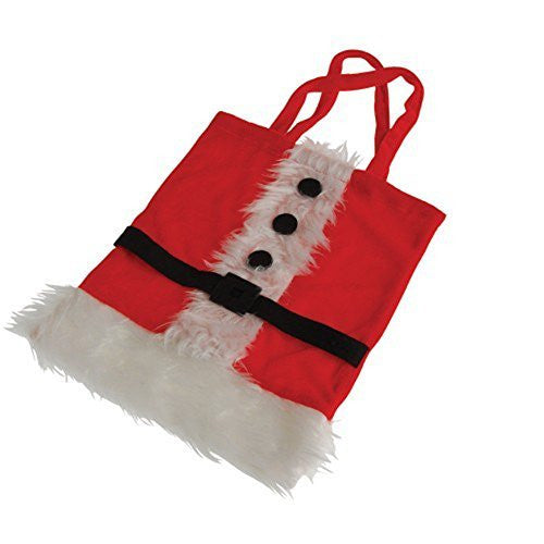 Christmas Plush Santa Suit Gift Bag