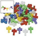 Cross-Shaped Beads - 25mm - Vacation Bible School & Craft Supplies