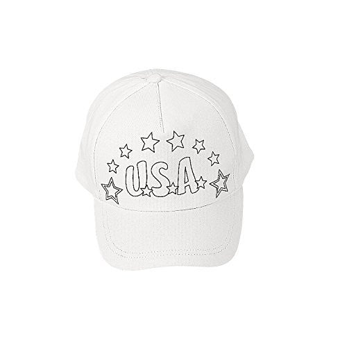 Cotton Color Your Own Patriotic Baseball Caps