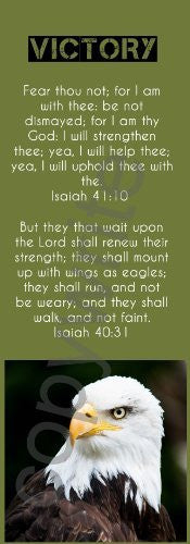Green Jumbo Victory Eagle Bookmarks Isaiah 41:10 (Pack Of 50) 8.5""