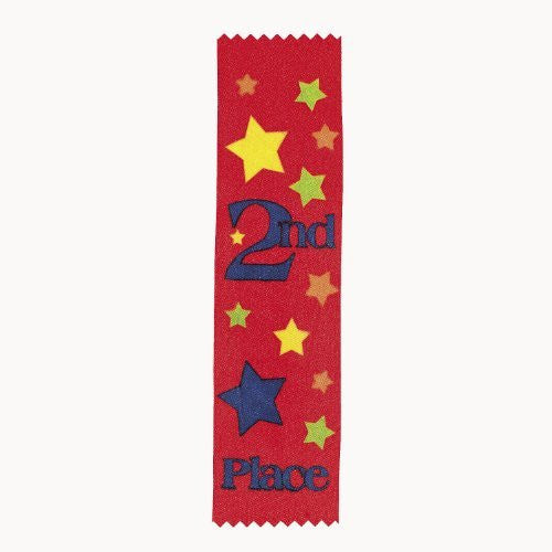 2nd Place Red Satin Award Ribbons (1 dz)