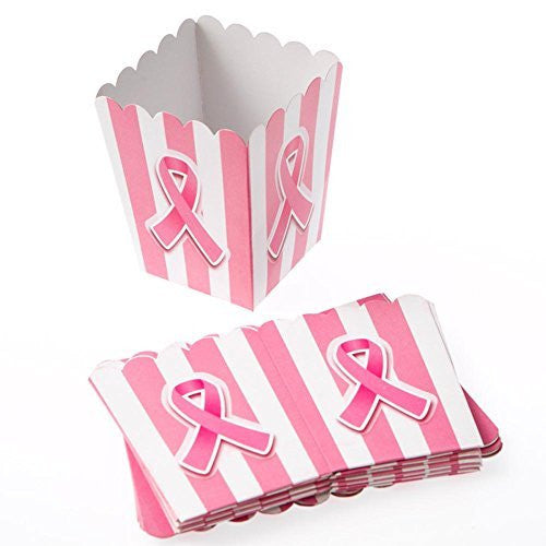 Mini Pink Ribbon Popcorn Boxes