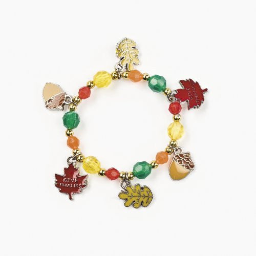 Fall Leaves Charm Bracelet Craft Kits (Makes 12)