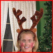 "Plush 14"" Big Reindeer Antlers Christmas Costume Accessory"