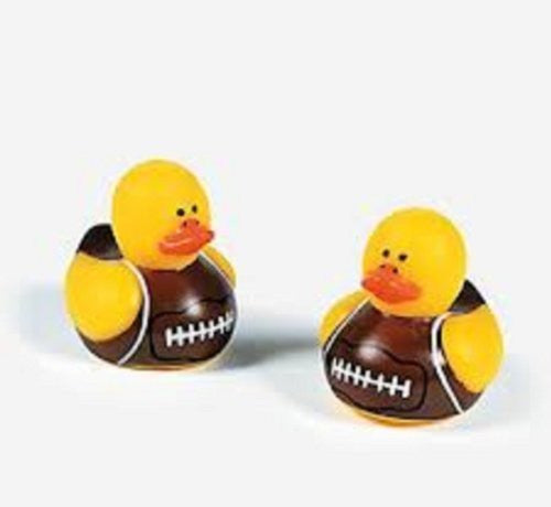 72 Vinyl Mini Football Rubber Duckies