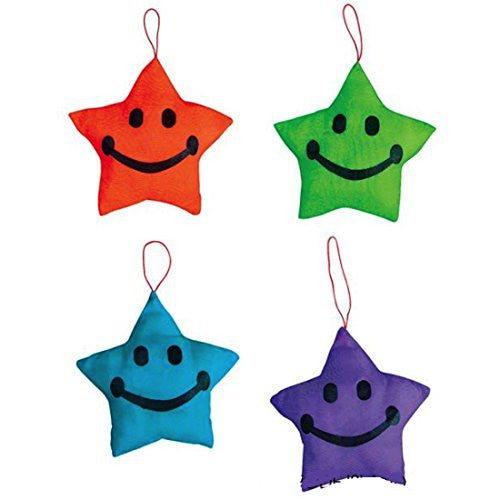 Plush Satin Stars Teacher Student Awards Backpack Charms (12 Pack)