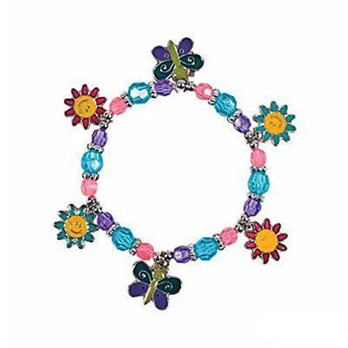 Beaded Butterfly & Daisy Charm Bracelet Craft Kit - Crafts for Kids & Jewelry Crafts