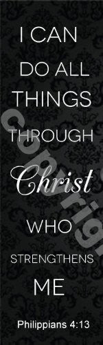 I Can Do All Things Through Christ Bookmarks (1000 Pack)