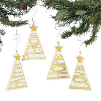 Christmas Tree-Shaped Words Ornament - Ornaments
