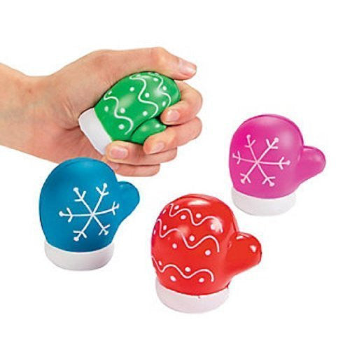 Dozen Foam Mitten Shaped Stress Toys