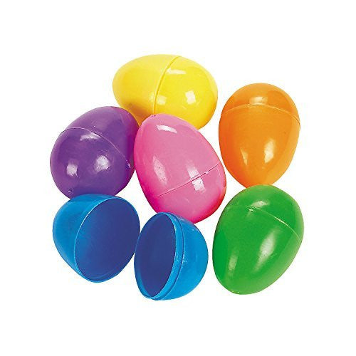 Easter Eggs - Plastic Bright Egg Assortment (60 Ct.)
