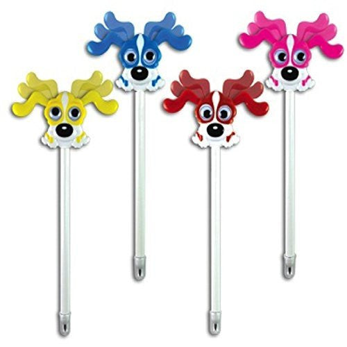 "12 Multi Color 6"" Bow Wow Wiggle Dog Pens"