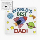 Color Your Own Father's Day Mouse Pads - Crafts for Kids & Color Your Own