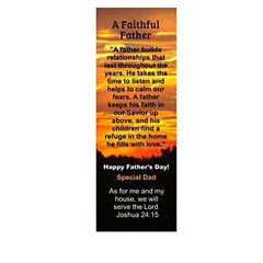 Orange Sunset Happy Father's Day Faithful Father Special Dad Bookmarks (50 Pack)