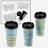 Color Your Own Mom Artist Travel Mugs - Crafts for Kids & Color Your Own