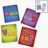 Dozen Joy For Jesus Spiral Color Pads With Stickers