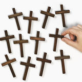 36 Small Wooden Crucifix Crosses