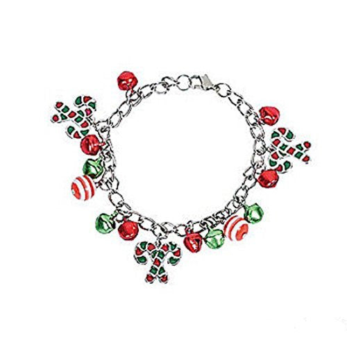 Metal Candy Cane Bracelets - 6 Pack