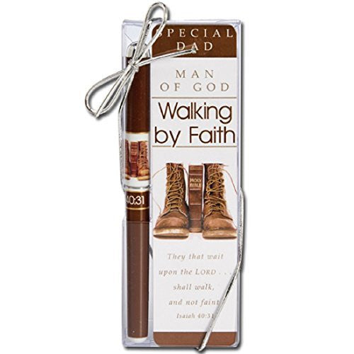 12 Walking By Faith Pen & Bookmark Gift Set (Dad's Version)