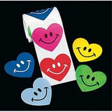 Smile Face Heart Stickers (100 pc roll) Case Pack 10