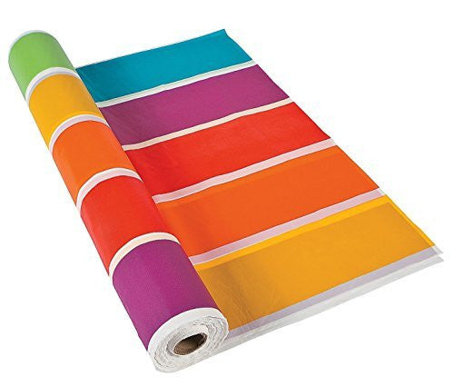 "Rainbow Tablecloth Roll (100 Ft. X 48"") Plastic."