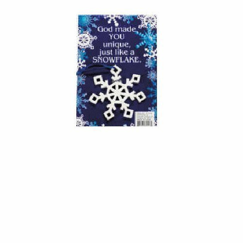 Snowflake Christmas Ornament on Gift Card Package of 12