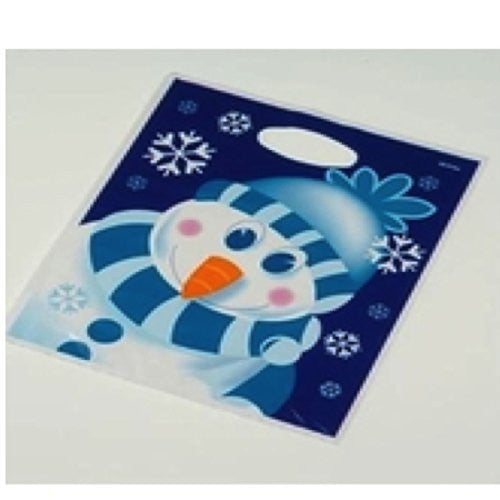 Snowman Winter Season Loot Bags Holiday Christmas Gift Bags - 8 Pack