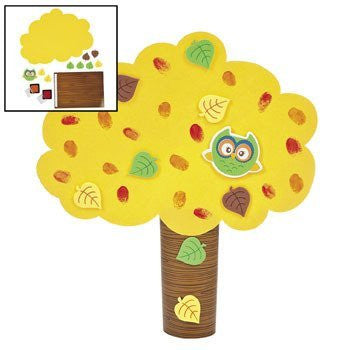 Fall Thumbprint Tree Craft Kit - Crafts for Kids & Novelty Crafts