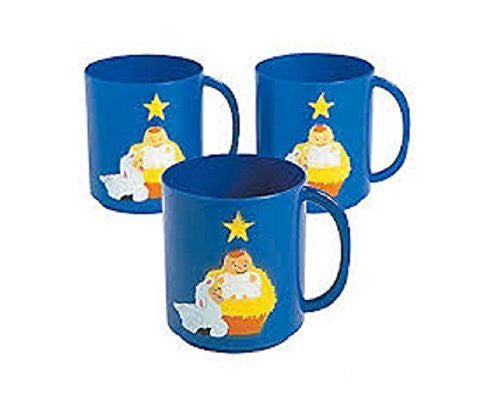 12 Nativity Plastic Cups