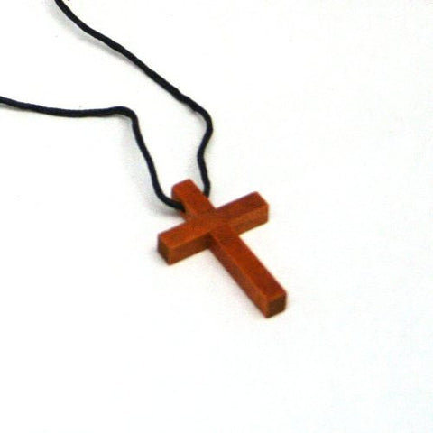 Fun Express - Wooden Cross Necklaces (1-Pack of 12)