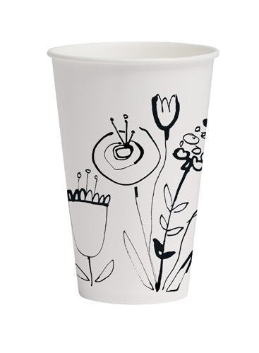 Mod Poppies Paper Beverage Cups
