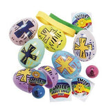 Religious Printed Toy-Filled Eggs - Sunday School & Party Supplies