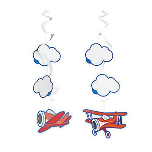 Up & Away Airplane Birthday Hanging Swirls